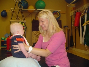 Julia, PT brings smiles to Physical Therapy at STEPS for Kids